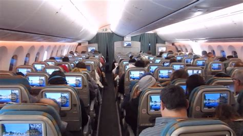 boeing 787 cabin oman air boeing 787 8 economy class cabin view