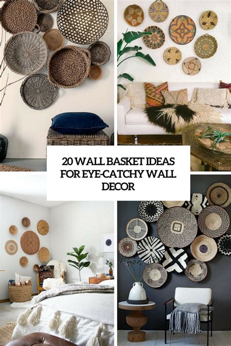 Home Wood Design Furniture 20 Wall Basket Ideas For Eye Catchy Wall D 233 Cor Shelterness