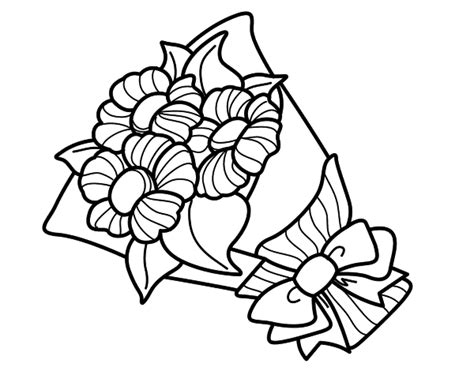 coloring pages of bunch of flowers bunch of daisies coloring page coloringcrew com