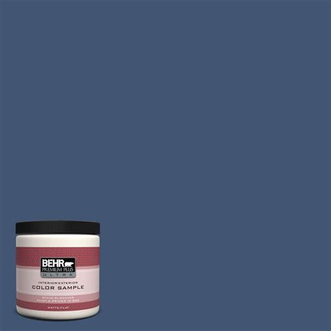 behr premium plus ultra 8 oz home decorators collection chlain blue interior exterior paint