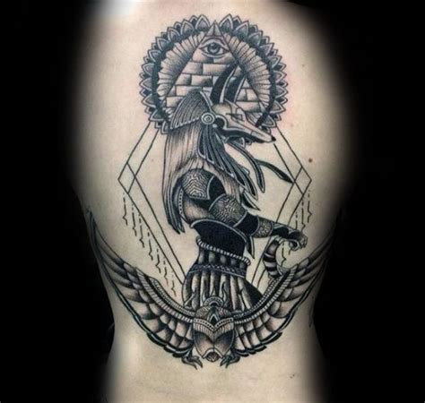tattoo trends ancient egyptian themed mens anubis upper