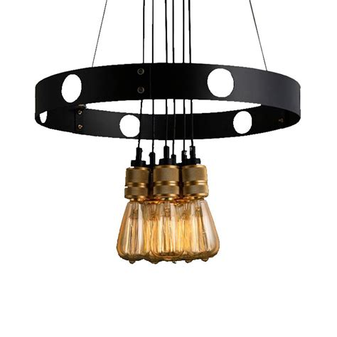 jeanette 6 light black indoor gold edison chandelier with