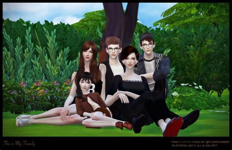Family Portrait Poses by Flower Chamber Family Portrait Poses Set Sims 4 Downloads