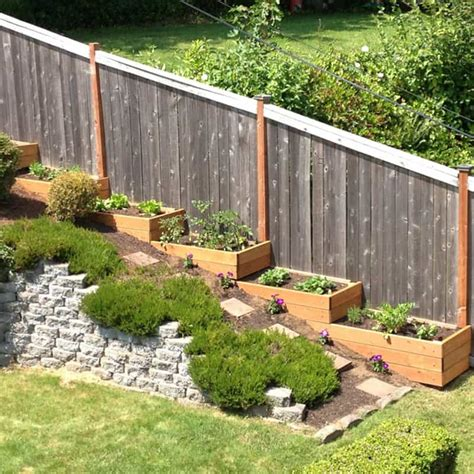 backyard wall ideas 20 sloped backyard design ideas