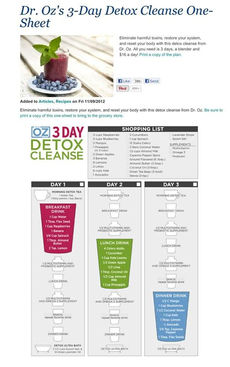 Dr Oz Detox Diet Plan by 104 Best Images About Cleanser On