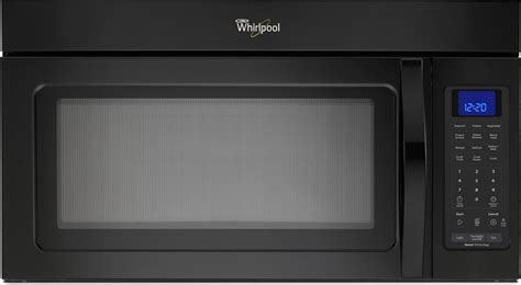 over the stove light whirlpool wmh32519cb 1 9 cu ft over the range microwave