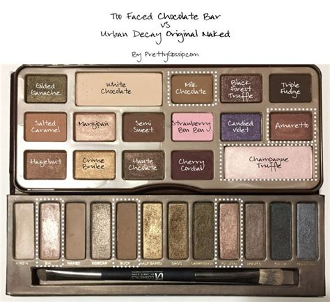 Chocolate And Palette chocolate bar vs palette comparison by pretty