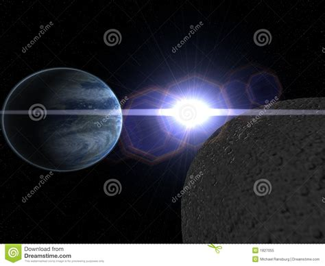 earth moon and sun royalty free stock photo image 1827055