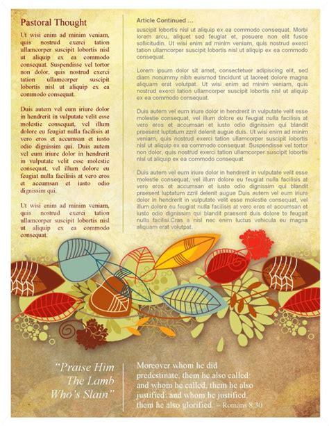 fall newsletter templates harvest church newsletter template for fall template