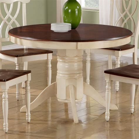 Antique White Dining Table by Shop Monarch Specialties Antique White Walnut Dining Table At Lowes