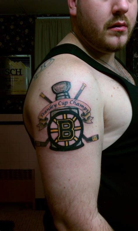 bruins fans showcase their tattoos in the black amp gold ink