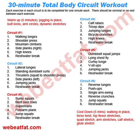 30 min total circuit workout on time but
