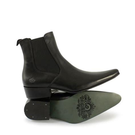mens chelsea boots cuban heel ikon revolver mens cuban heel pointed leather chelsea