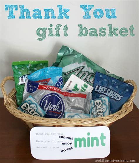 thank you gift basket christinas adventures