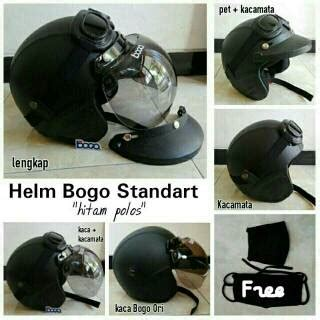 Helm Bogo Dewasa Kulit Sni Retro diskon helm bogo polos helm retro kulit sni terbaru helm bogo hitam polos helm dewasa terbaru