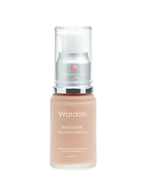 Harga Wardah Exclusive Liquid Foundation In Shade 03 Beige wardah exclusive liquid foundation 20 ml padusee