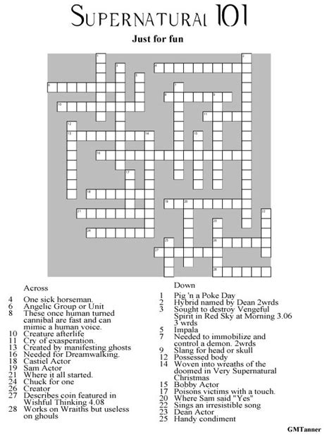 printable star trek trivia questions and answers supernatural crossword puzzle click to go to web page to