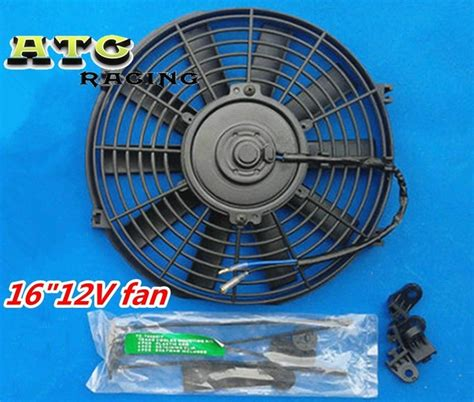 electric fan mounting kit 16 quot 12v slim radiator thermo fan mounting kit