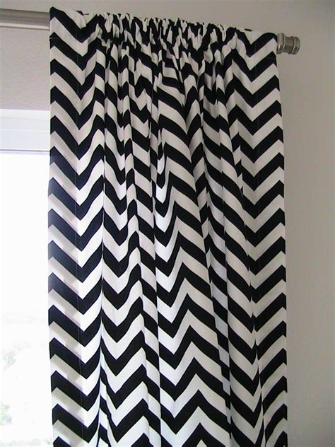 Black And White Chevron Curtains Found Chevron Trellis Print Curtains Courtesy Of Nena Etsy