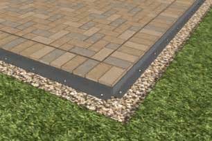 Patio Paver Edging How To Install A Paver Patio Home Fix Diy Paver Edging Patios And Backyard