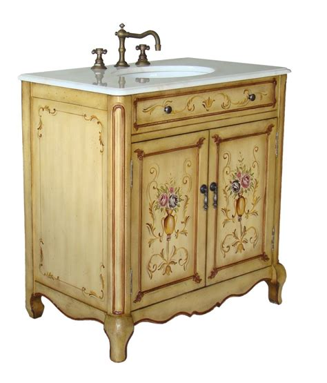hand painted bathroom cabinets 32 quot hand painted foral design camarin bathroom sink vanity