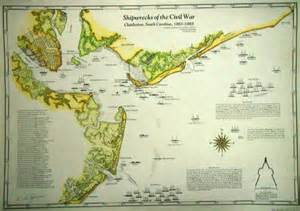 carolina shipwreck map discovery of the hunley 171 shipwrecks