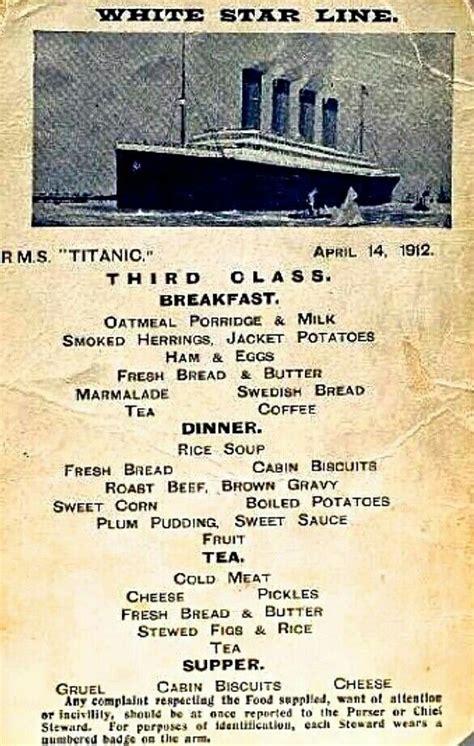 titanic second class menu meer dan 1000 idee 235 n over vintage menu op pinterest menu