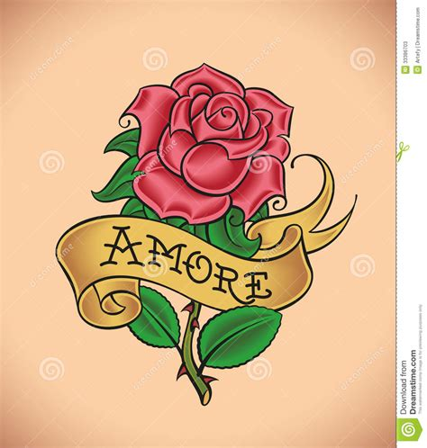 old rose amore stock vector image of greeting