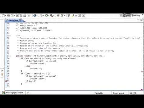 Java Search Java Binary Search Algorithm Program With Recursion Tutorial