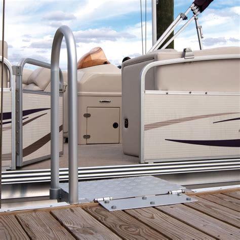 folding boat platform dockmate folding access platform with safety handrail