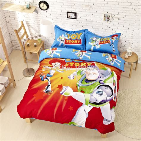 toy story toddler bed set aliexpress com buy cartoon kids toy story bedding sets