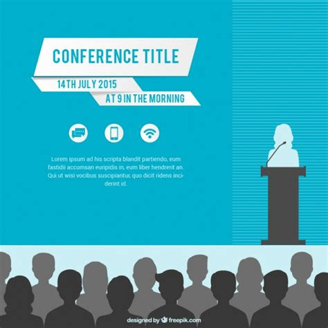 templates for conference posters conference poster template vector free download