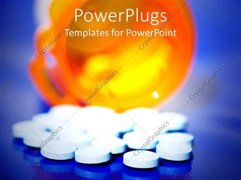 Powerpoint Template Knocked Over Prescription Pill Drugs Antibiotics Ppt Templates Free
