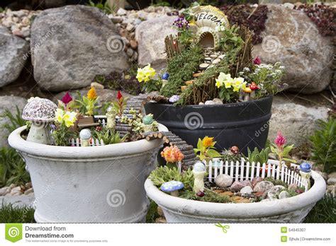 garden in a flower pot garden in a flower pot outdoors stock photo image