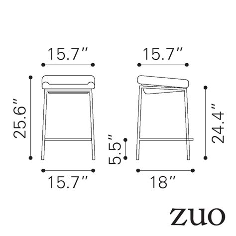 bar height stools dimensions 28 counter height kitchen stools dimensions zuomod
