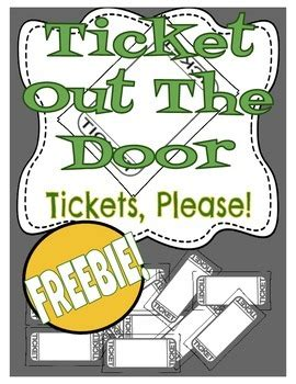 ticket out the door template ticket out the door template by see do tpt
