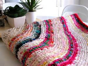 rag rug material how to make a colourful crochet rag rug with recycled