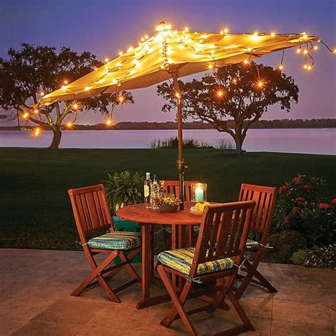 Patio Umbrella String Lights Best 25 Patio Umbrella Lights Ideas On Garden Umbrella Lighting Big Umbrella And