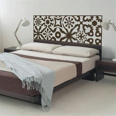 Quilted Headboards by Quilted Headboard Wall Decal Vinyl Wall Sticker Bed