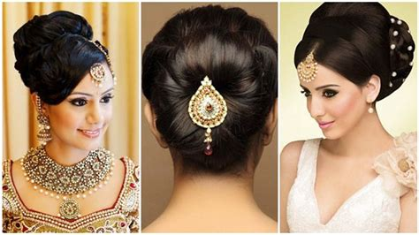 Traditional Indian Wedding Hairstyles by Indian Bun Hairstyles For Medium Hair Traditional