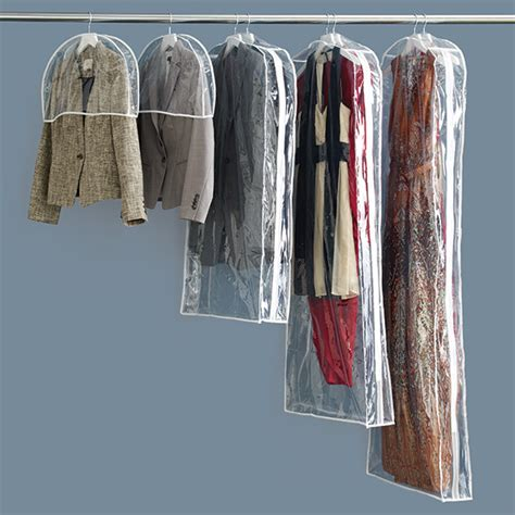 Hanging Closet Garment Bags by Peva Single Garment Bags The Container Store
