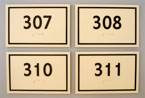 acrylic ada braille room number signs images frompo