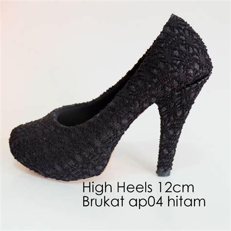 Sepatu Wanita Heels Gold Gliter jual high heels brukat glitter krem gold elstore sepatu