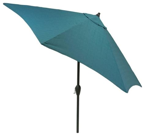 Hton Bay Patio Umbrella Teal Patio Umbrella Fiberbuilt Umbrellas 7 5 Ft Patio Umbrella In Teal 7gcrcb T Tl The Home