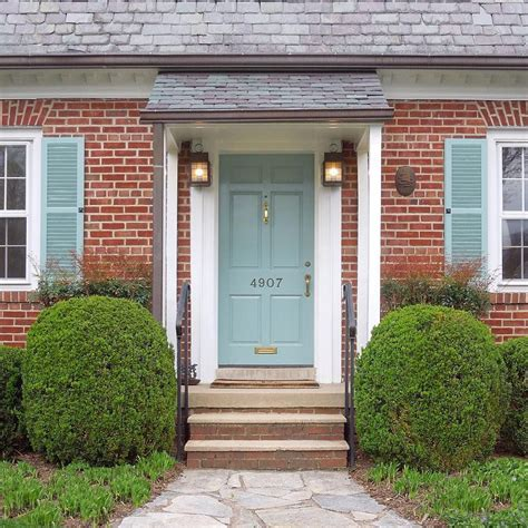 door colors for red brick houses one of my favorite colors farrow and ball s dix blue a