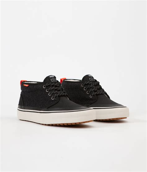 Vans Hf vans x finisterre chukka hf shoes black wool flatspot
