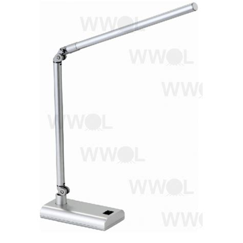 lux led desk l lux reach 4 watt led desk lamp silver