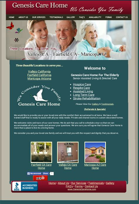 genesis care homes assisted living for elderly seniors