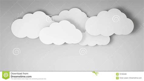 3d cloud 3d clouds on a blue background stock illustration image