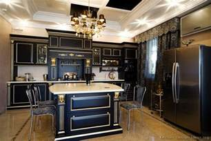 Decorating Ideas For And Black Kitchen Pictures Of Kitchens Traditional Black Kitchen Cabinets